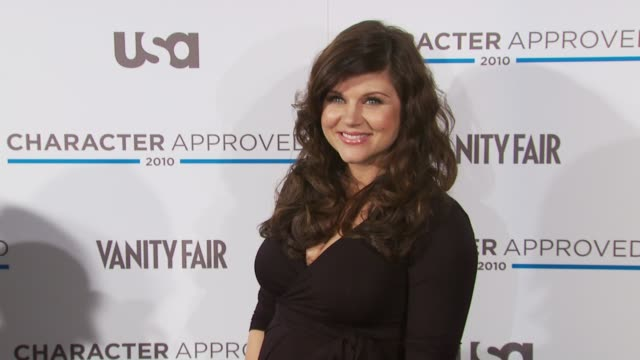 tiffaniamber thiessen at the 2nd annual character approved awards cocktail reception at new york ny - tiffani thiessen stock videos & royalty-free footage
