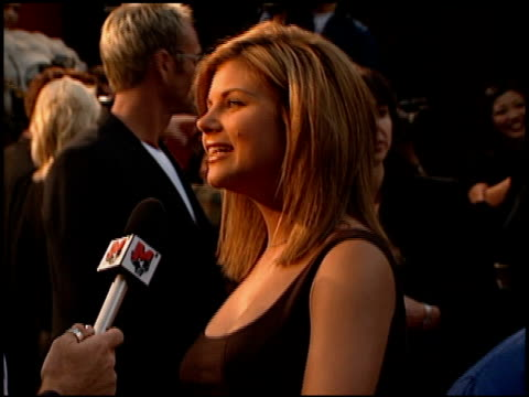 tiffaniamber thiessen at the 'can't hardly wait' premiere at grauman's chinese theatre in hollywood california on june 2 1998 - tiffani thiessen stock videos & royalty-free footage
