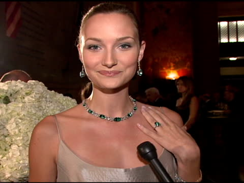Tiffany and Co model wearing green tourmaline and diamonds collection on how much they cost at the Tiffany Co Launch of the 2008 Blue Book Collection...