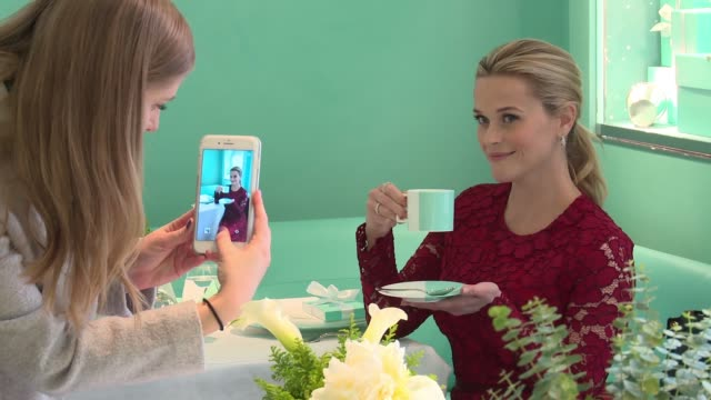 CHYRON Tiffany Co Holiday Breakfast with Reese Witherspoon at Tiffany Co on November 29 2017 in New York City