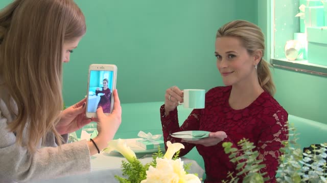 CLEAN Tiffany Co Holiday Breakfast with Reese Witherspoon at Tiffany Co on November 29 2017 in New York City