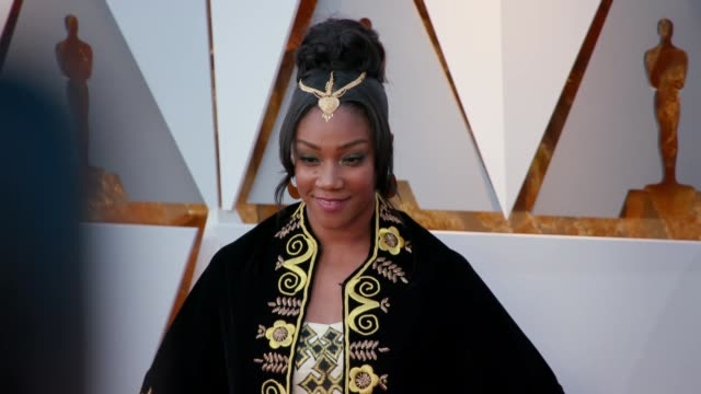tiffany haddish at 90th academy awards arrivals at dolby theatre on march 04 2018 in hollywood california - 90th annual academy awards stock videos & royalty-free footage