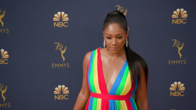 tiffany haddish at the 70th emmy awards arrivals at microsoft theater on september 17 2018 in los angeles california - 70th annual primetime emmy awards stock videos and b-roll footage