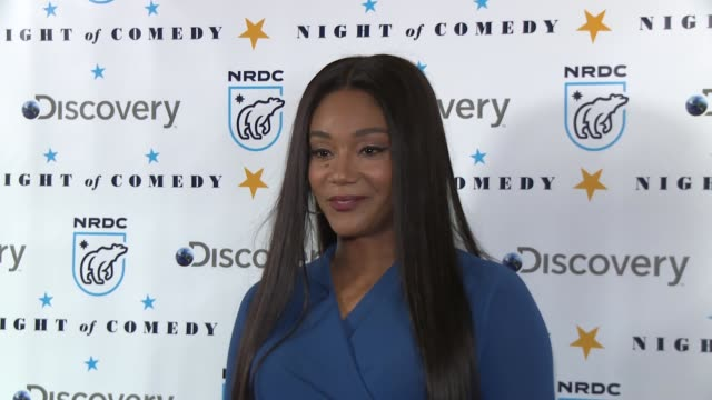 tiffany haddish at the natural resources defense council presents night of comedy benefit hosted by seth meyers at new york historical society on... - seth meyers stock videos and b-roll footage