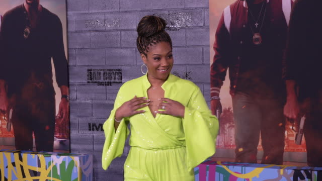 tiffany haddish at the world premiere of bad boys for life - gif stock videos and b-roll footage