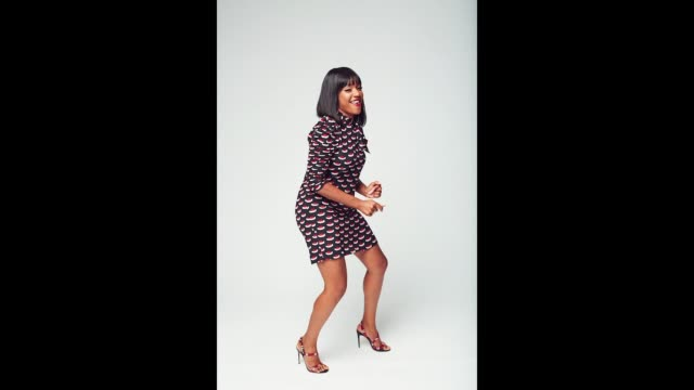 Tiffany Haddish of Turner Networks 'TBS/The Last OG' poses for a gif during the 2017 Summer Television Critics Association Press Tour at The Beverly...