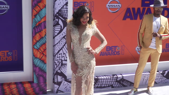 Tiffany Hines at the 2018 BET Awards at Microsoft Theater on June 24 2018 in Los Angeles California
