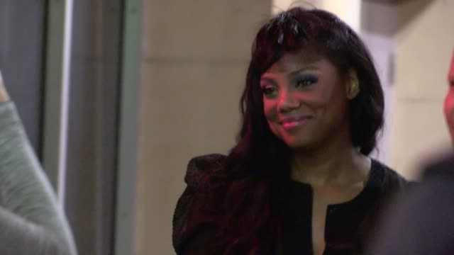 Tiffany Hines greets fans while departing the Beautiful Creatures After Party in Hollywood 02/06/13