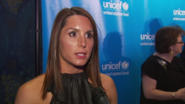 Tiffany Ortiz says the best thing people can do is support UNICEF at the UNICEF and the Boston Celtics Team up for 'A Night for Haiti' at Boston MA