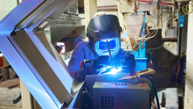 tig welder at work - manufacturing occupation stock videos and b-roll footage