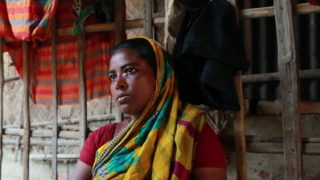 tiger widow buli das speeches that she had faced situation after her husband attack by tiger at sundarban at satkhira , bangladesh on april 12, 2018.... - widow stock videos & royalty-free footage