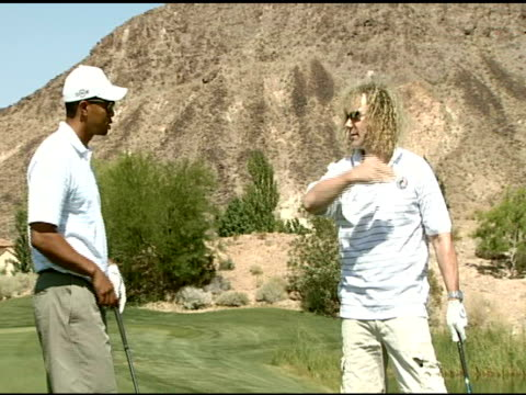 tiger woods and david bryan at the tiger jam x golf clinic on may 25 2007 - tiger woods stock videos & royalty-free footage