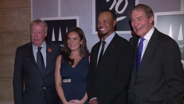 chyron – tiger woods foundation event at new york public library on october 20 2016 in new york city - laura benanti stock videos and b-roll footage