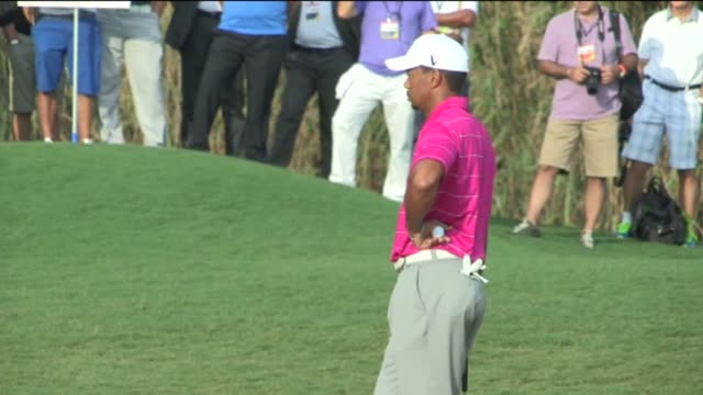tiger woods of the usa in action against matt kuchar of the usa during day two of the turkish airlines world golf final on october 10 2012 in antalya... - tiger woods stock videos & royalty-free footage