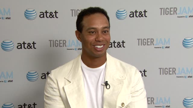 tiger woods on how the message 'anything is possible' relates to his own experience and achievements at the tiger jam xii at las vegas nv - tiger woods stock videos & royalty-free footage