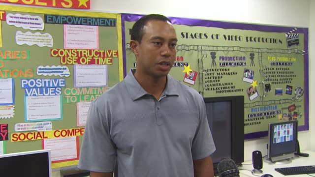 tiger woods on the charity sheryl crow and more at the 5th annual tiger woods learning center block party at anaheim ca - sheryl crow stock videos and b-roll footage