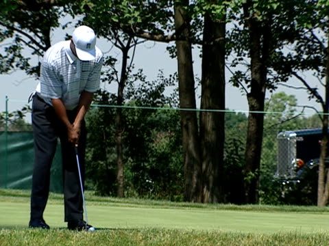 WGN Tiger Woods practices for the 2003 Western Open which took place at Cog Hill Golf Country Club near Chicago Illinois