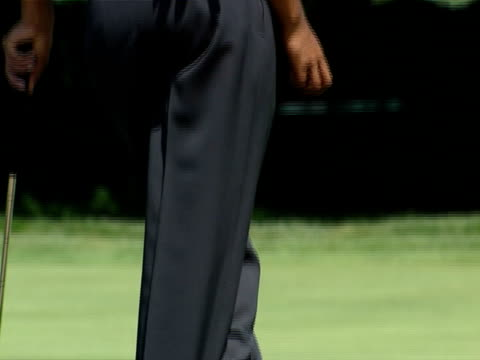 Tiger Woods practices for the 2003 Western Open which took place at Cog Hill Golf Country Club near Chicago Illinois