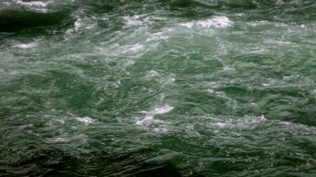 tight shot of beautiful green water and bubbles in river rapids. - mcdonald creek stock-videos und b-roll-filmmaterial