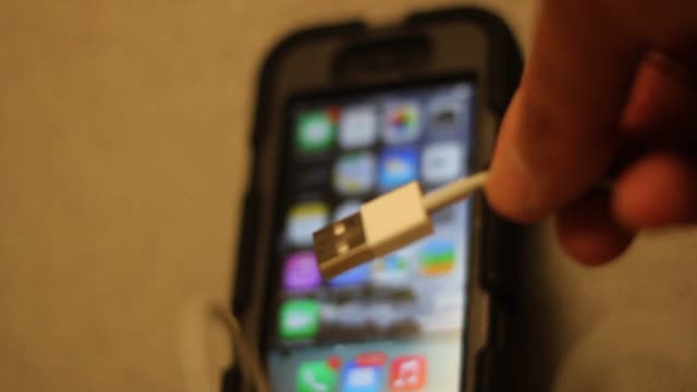Tight Shot of iPhone and USB Cable