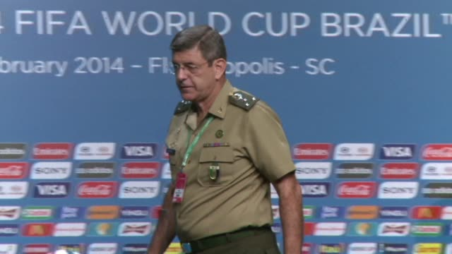 a tightly coordinated 150000strong security contingent will ensure peace and order at the world cup games that get underway in brazil this june... - südbrasilien stock-videos und b-roll-filmmaterial