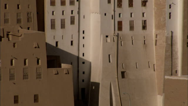 Tightly packed mud brick high rises fill the town of Shibam Yemen.