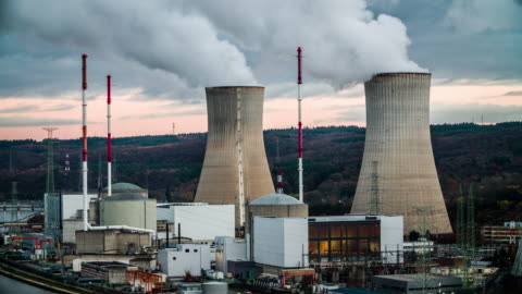 tihange nuclear power station - nuclear energy stock videos & royalty-free footage