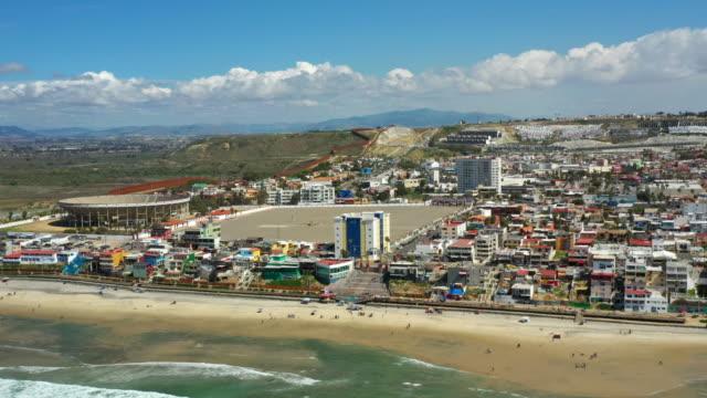 tijuana mexico aerial shot - tijuana stock videos & royalty-free footage