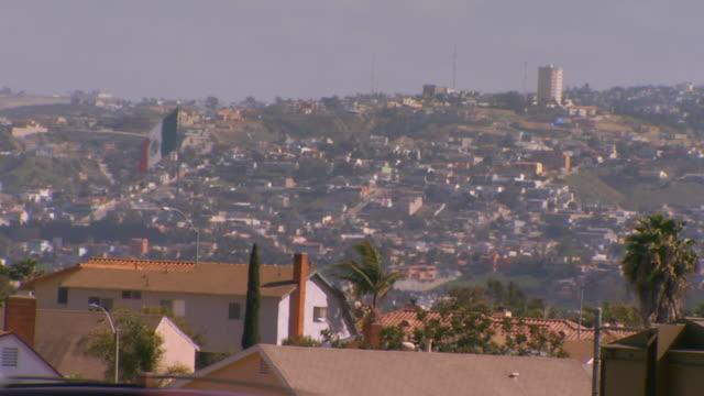 tijuana, mexicocity on a hill in tijuana, mexico - fan palm tree stock videos & royalty-free footage