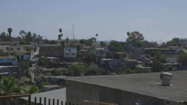 tijuana residential neighborhood, high angle wide-shot - tijuana stock videos & royalty-free footage