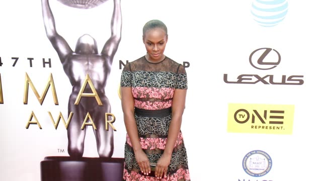 tika sumpter at 47th annual naacp image awards at pasadena civic auditorium on february 05 2016 in pasadena california - pasadena civic auditorium stock videos and b-roll footage