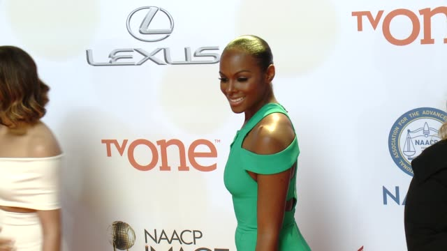 stockvideo's en b-roll-footage met tika sumpter at the 46th annual naacp image awards arrivals at pasadena civic auditorium on february 06 2015 in pasadena california - pasadena civic auditorium