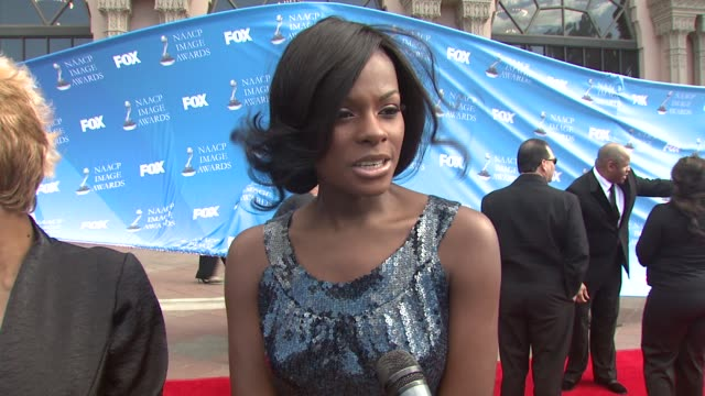 Tika Sumpter on the event at the 39th Annual NAACP Image Awards at the Shrine Auditorium in Los Angeles California on February 14 2008