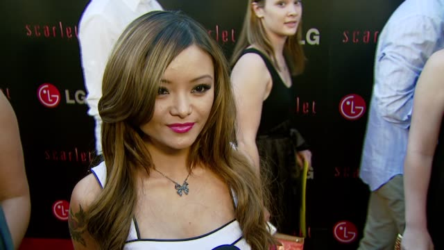 vídeos y material grabado en eventos de stock de tila tequila on attending tonight's event what she knows about it and if she's seen the trailer for the scarlet series at the lg electronics' launch... - pacific design center