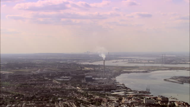 tilbury docks and thames estuary - river thames stock videos & royalty-free footage