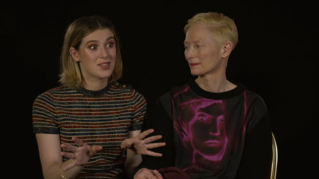 tilda swinton, actress, and honor swinton byrne, actress - honor swinton byrne on whether she'll continue acting after her debut role in 'the... - film festival stock videos & royalty-free footage
