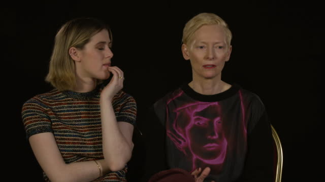 tilda swinton, actress, and honor swinton byrne, actress - tilda swinton on director joanna hogg recreating their youth with her story of 'the... - film festival stock videos & royalty-free footage