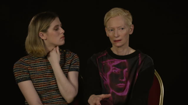 interview tilda swinton actress and honor swinton byrne actress tilda swinton on how mother and daughter got on while filming 'the souvenir' at 'the... - actress stock videos & royalty-free footage