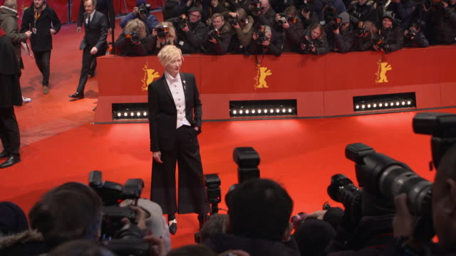 Tilda Swinton at 68th Berlin Film Festival Isle of Dogs Opening Red Carpet at Berlinale Palast on February 15 2018 in Berlin Germany