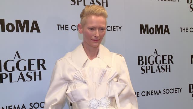 Tilda Swinton at 'A Bigger Splash' New York Screening Presented By Fox Searchlight at MoMA Titus One on April 21 2016 in New York City