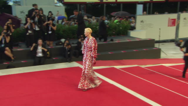 tilda swinton at 'at eternity's gate' red carpet 75th venice film festival on september 03 2018 in venice italy - joaquin phoenix stock videos & royalty-free footage