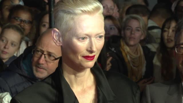 Tilda Swinton at 'Suspiria' UK Premiere 62nd BFI London Film Festival on October 16 2018 in London England