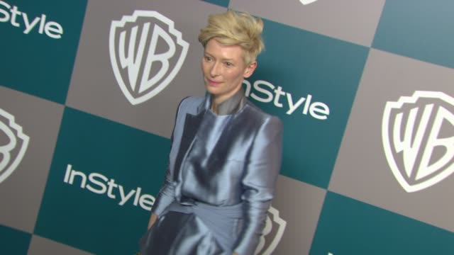 Tilda Swinton at the 13th Annual Warner Bros And InStyle Golden Globe AfterParty in Beverly Hills CA on 1/15/12