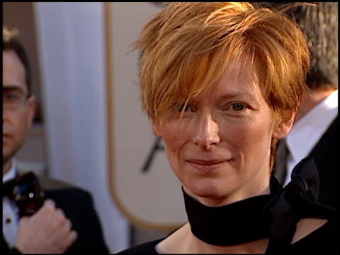 Tilda Swinton at the 2002 Golden Globe Awards at the Beverly Hilton in Beverly Hills California on January 20 2002