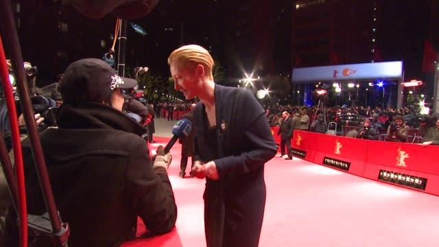 Tilda Swinton at the 59th Berlin Film Festival Closing Night Red Carpet at Berlin