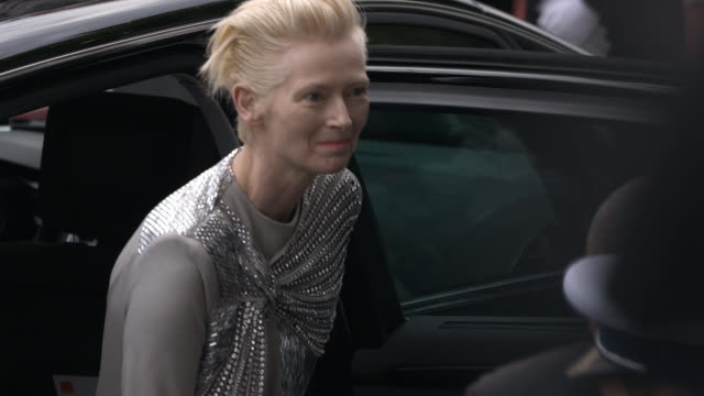 slomo tilda swinton at 'the dead don't die' red carpet arrivals opening ceremony the 72nd cannes film festival on may 14 2019 in cannes france - the dead don't die 2019 film stock videos and b-roll footage