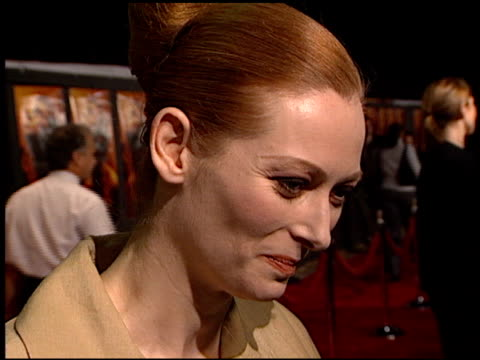Tilda Swinton at the Premiere of 'The Beach' at Grauman's Chinese Theatre in Hollywood California on February 2 2000