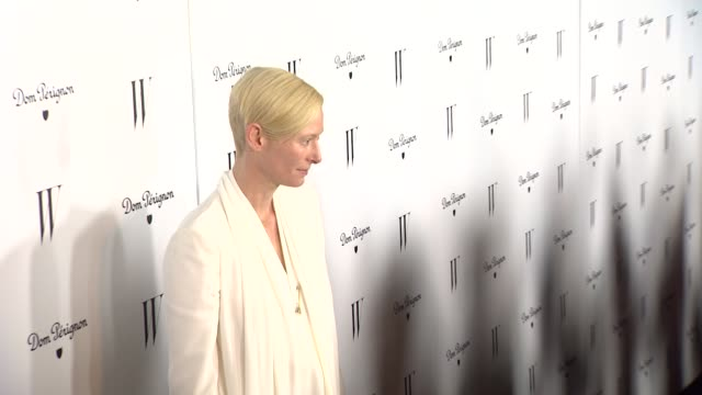 Tilda Swinton at W Magazine In Collaboration With Dom Perignon Hosts Celebration For Its Best Performances Issue And The Golden Globes at Chateau...