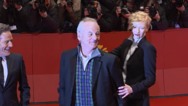 Tilda Swinton Bill Murray at 68th Berlin Film Festival Isle of Dogs Opening Red Carpet at Berlinale Palast on February 15 2018 in Berlin Germany