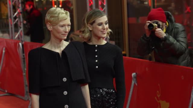Tilda Swinton Honor Swinton Byrne at 'The Souvenir' Red Carpet Arrivals 69th Berlin Film Festival at Zoo Palast on February 12 2019 in Berlin Germany